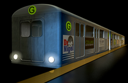 Subway train 3d model and animation by Graham Collins